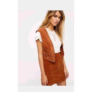 New Free People Cherri Suede Vest Size XS